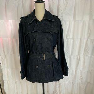 Pure DKNY Denim Long Denim Jacket w Belt Sz. S